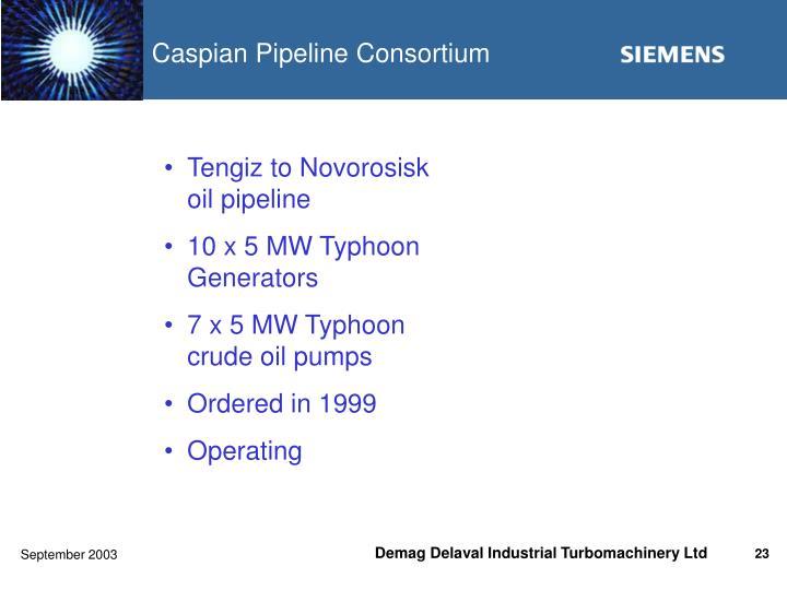 Tengiz to Novorosisk oil pipeline
