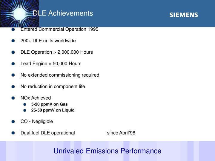 DLE Achievements