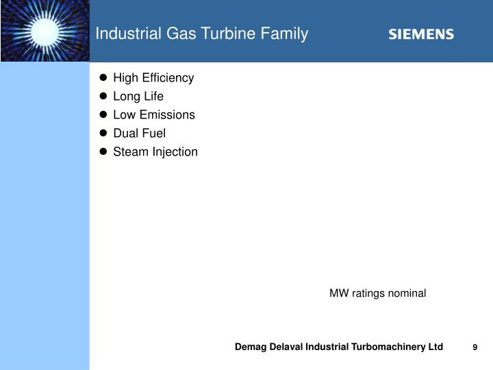 Industrial Gas Turbine Family