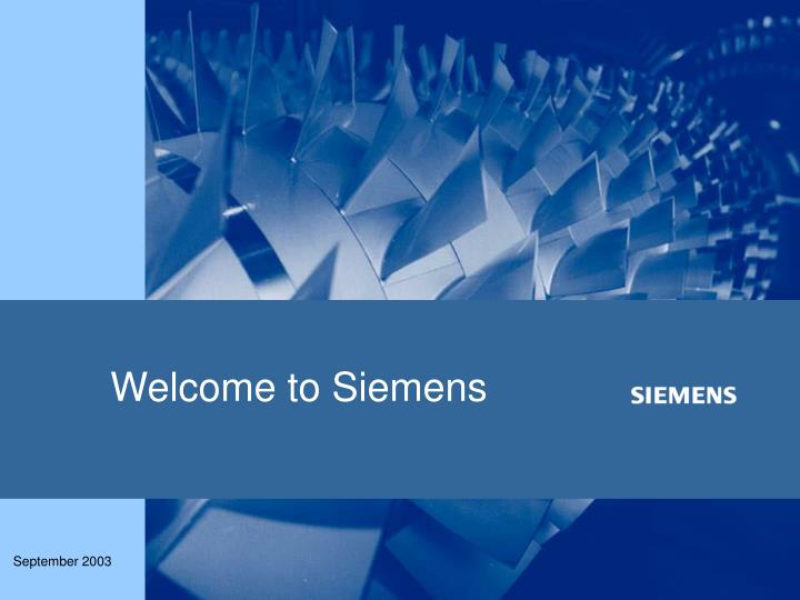 Welcome to siemens