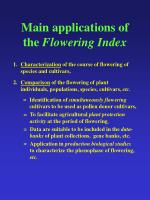 main applications of the flowering index