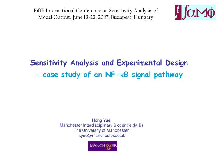 Sensitivity analysis and experimental design case study of an nf k b signal pathway