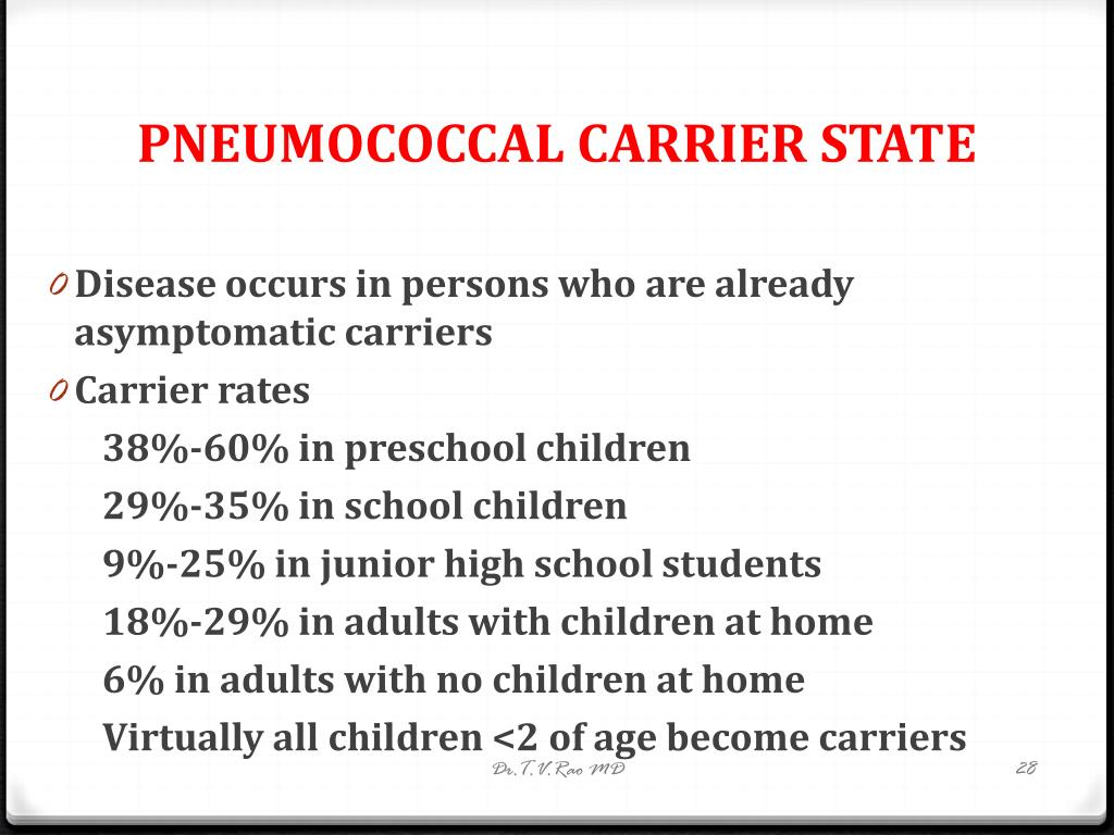 PNEUMOCOCCAL CARRIER STATE