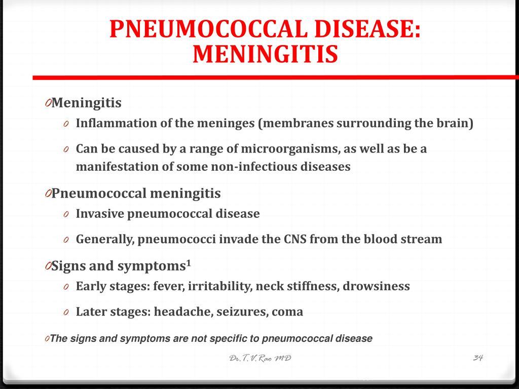 PNEUMOCOCCAL DISEASE: MENINGITIS