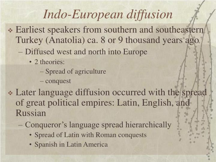 Indo-European diffusion