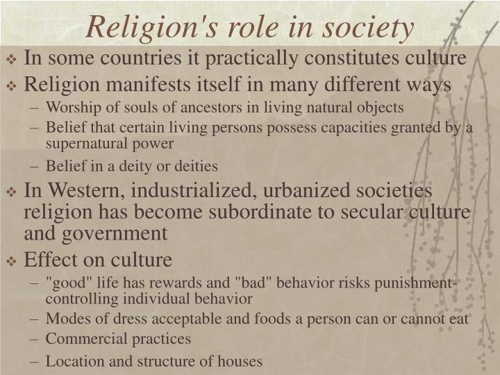 Religion's role in society