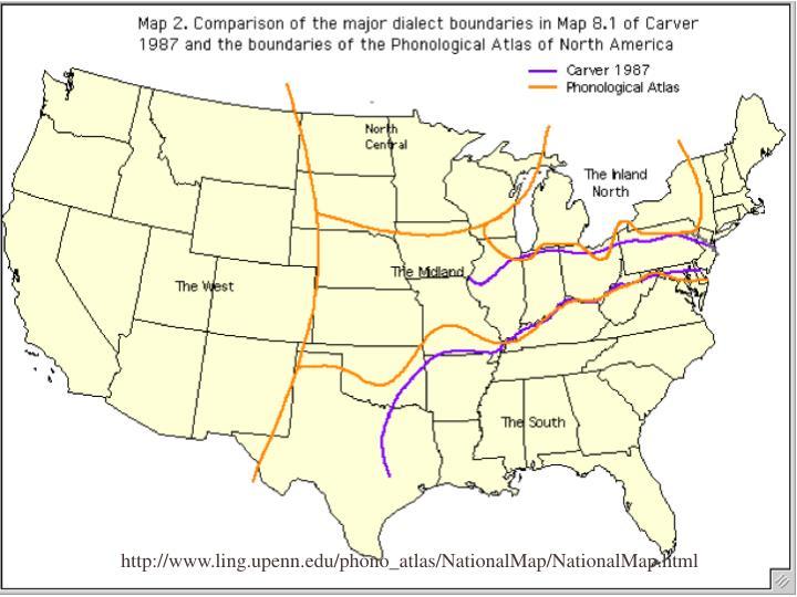http://www.ling.upenn.edu/phono_atlas/NationalMap/NationalMap.html