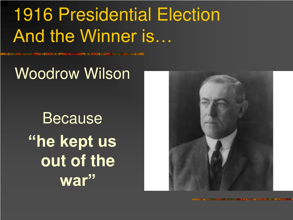 1916 Presidential Election