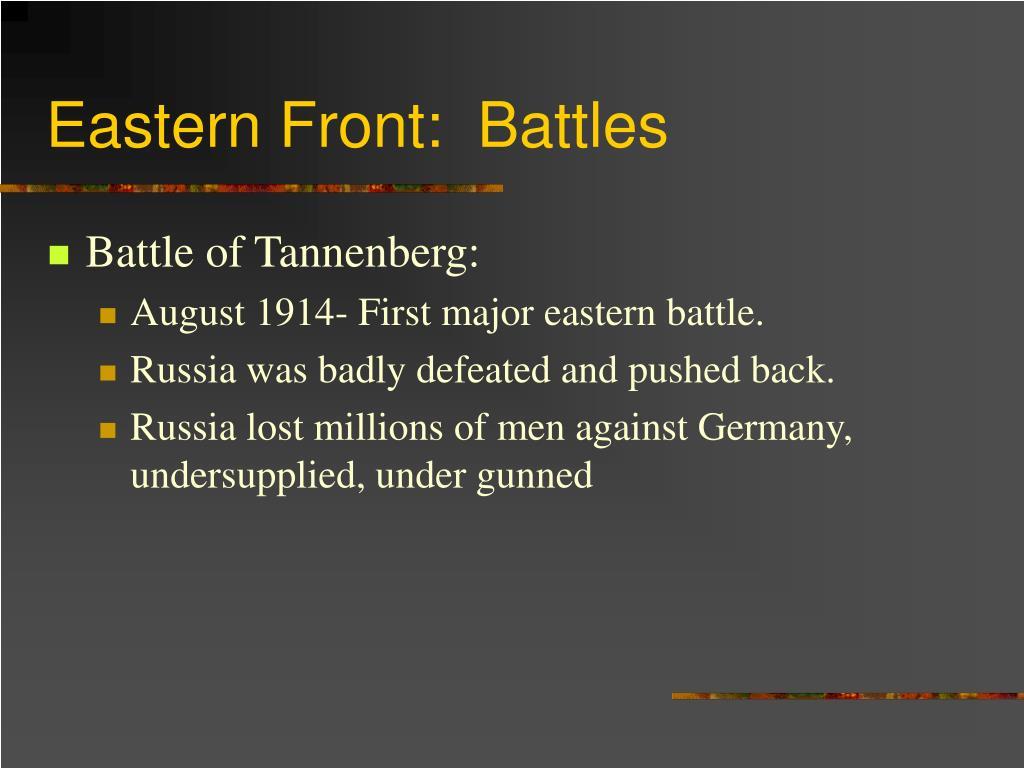 Eastern Front:  Battles