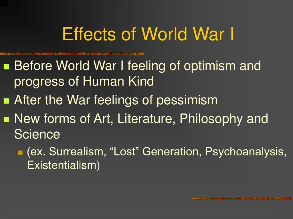 Effects of World War I