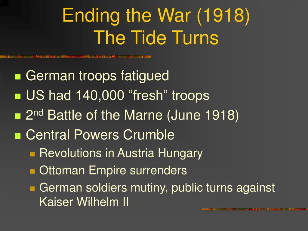 Ending the War (1918)