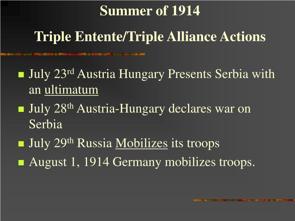 Summer of 1914