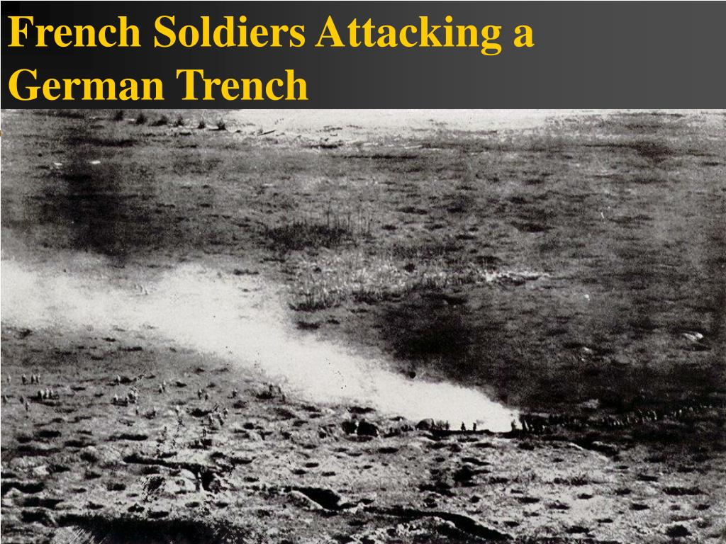 French Soldiers Attacking a German Trench