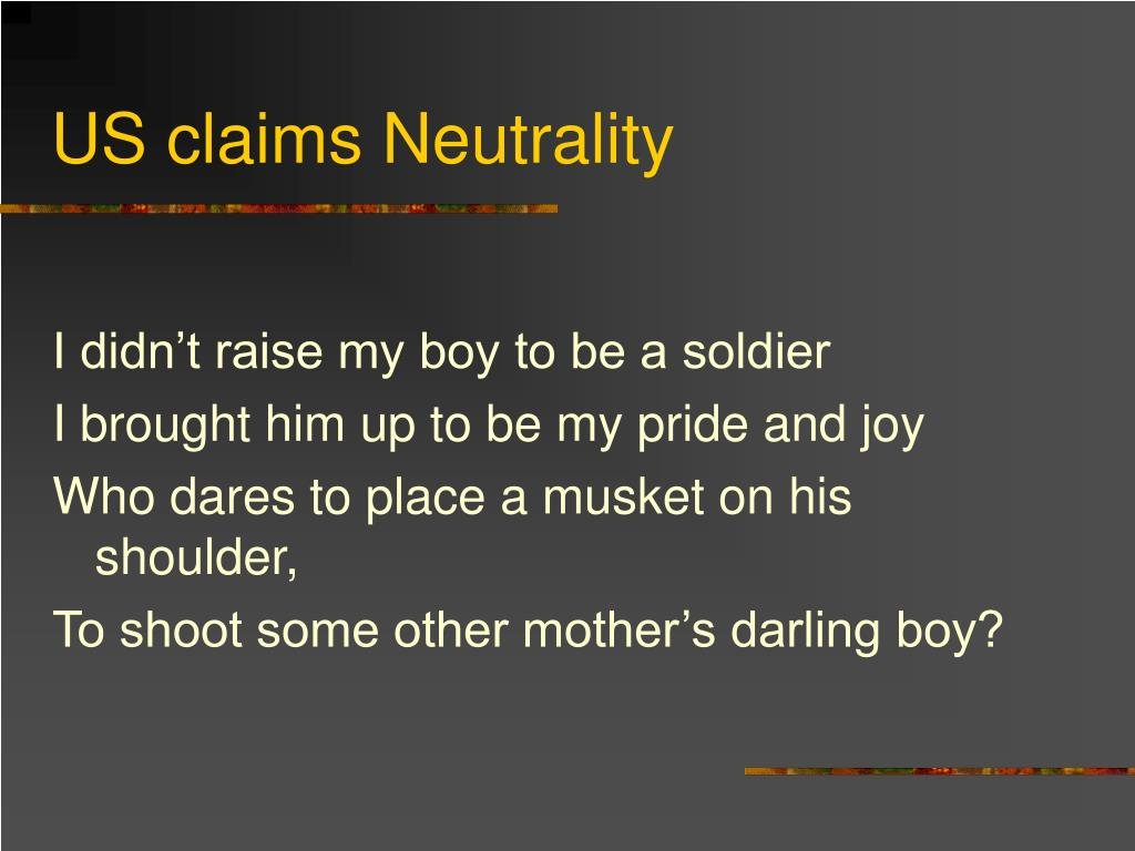 US claims Neutrality