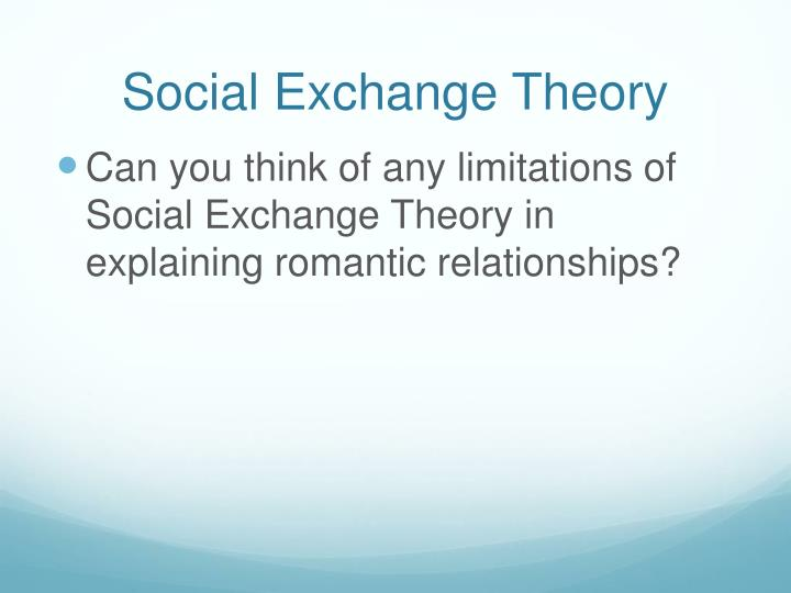 social exchange theory in nursing Application of: the social exchange theory in everyday interactions people are always looking to have a positive experience among those with whom they interact.