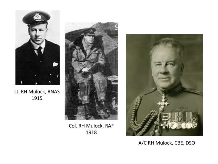 Lt. RH Mulock, RNAS