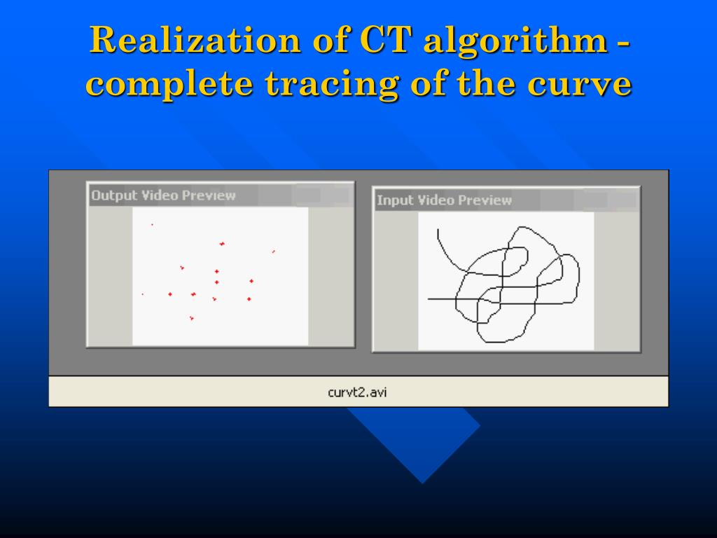 Realization of CT algorithm