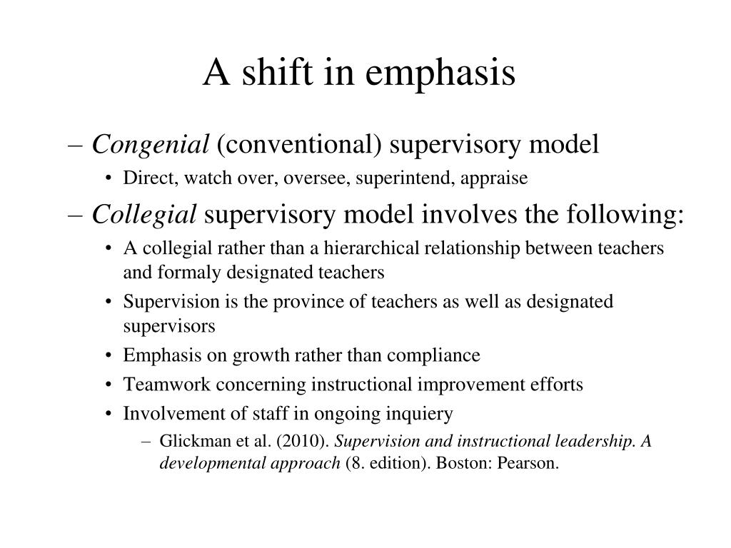 A shift in emphasis