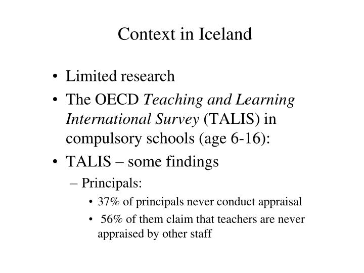 Context in iceland