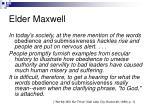 elder maxwell