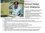 school notes from alabama