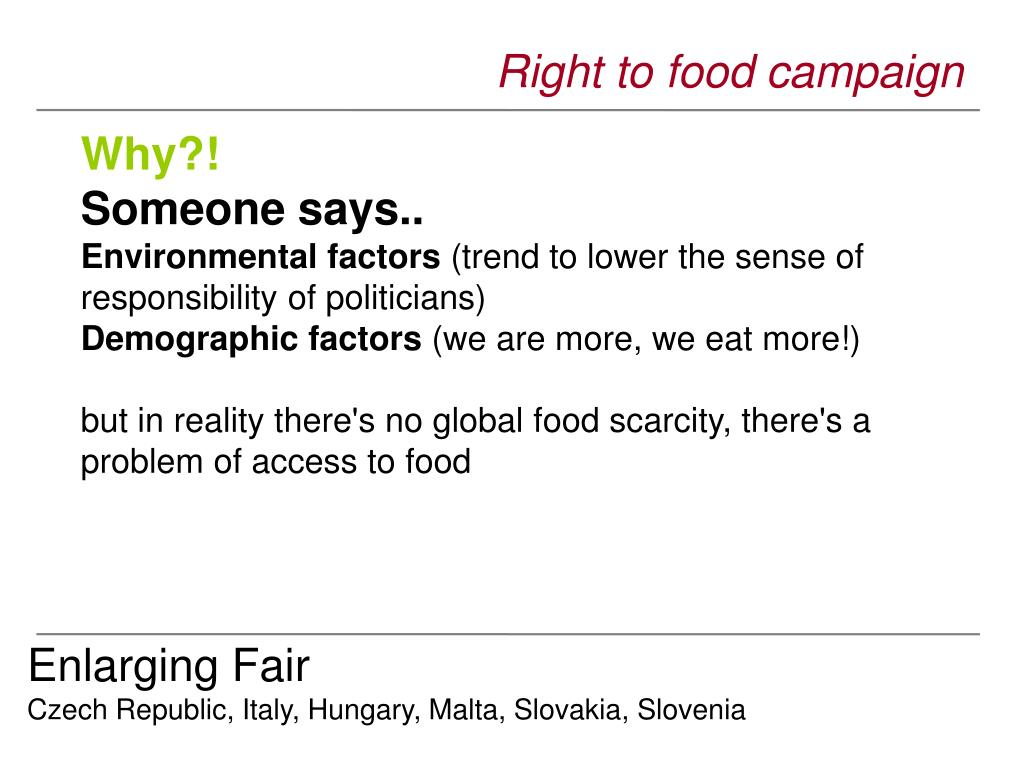 Right to food campaign