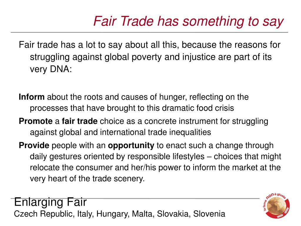 Fair Trade has something to say
