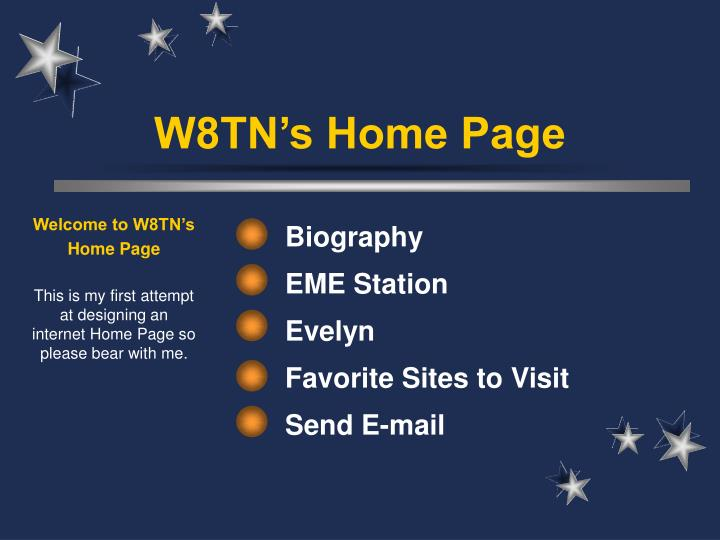 Welcome to W8TN's