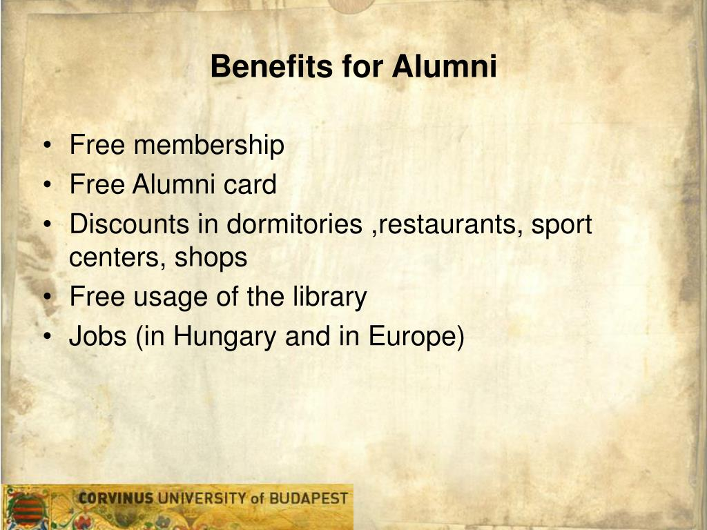 Benefits for Alumni