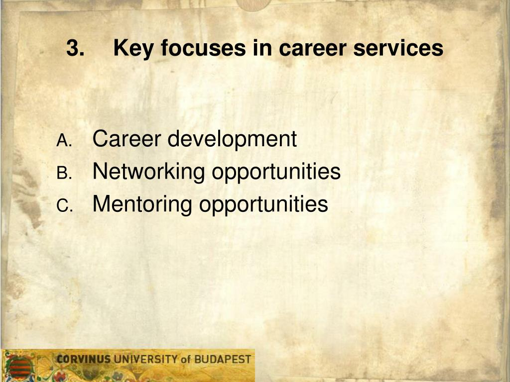 Key focuses in career services