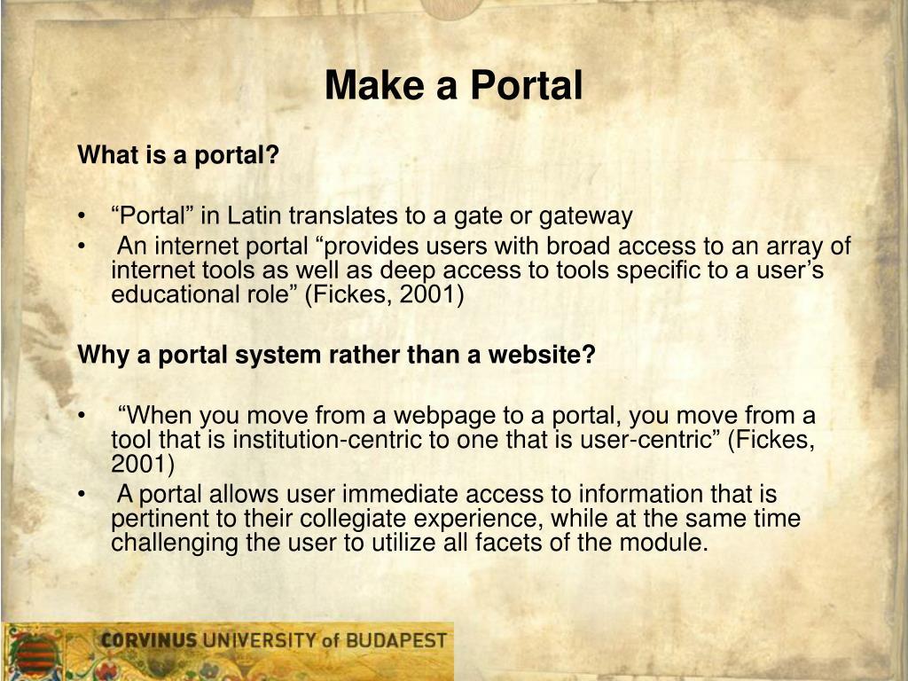 Make a Portal
