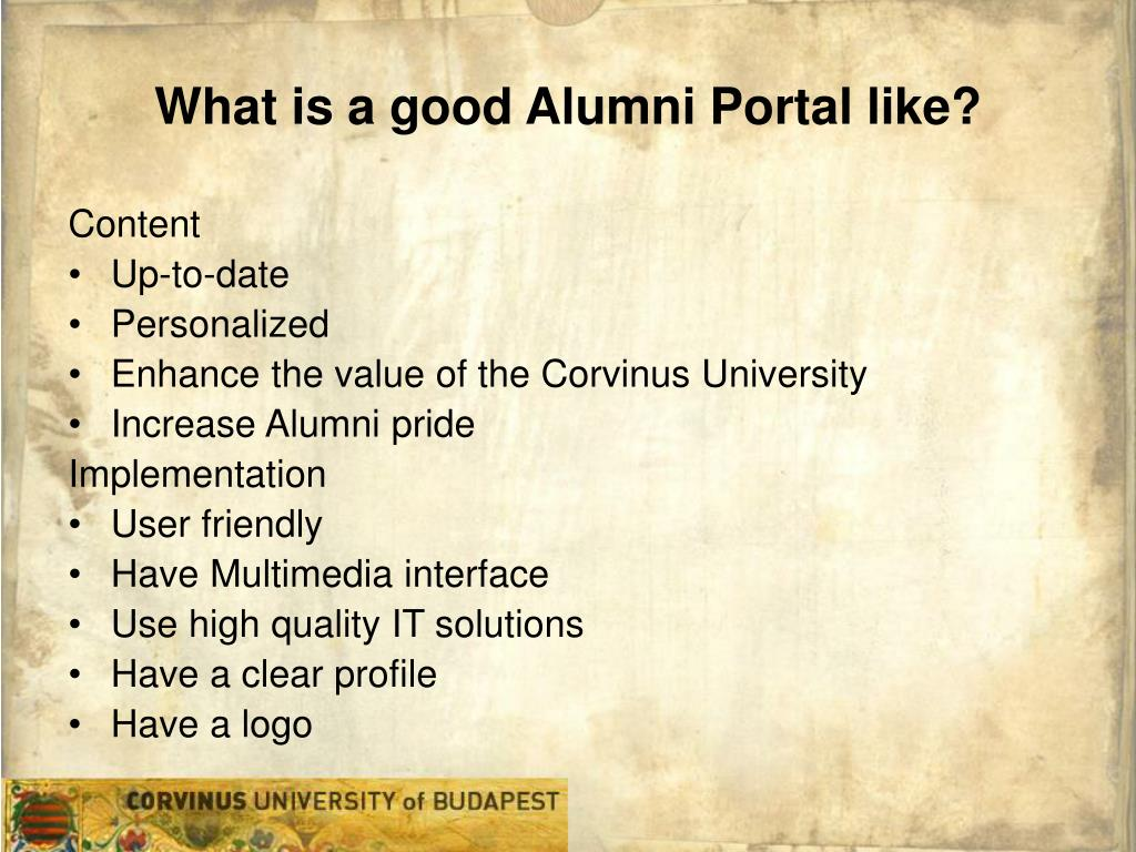What is a good Alumni Portal like
