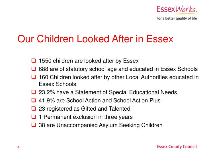 1550 children are looked after by Essex