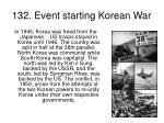 132 event starting korean war