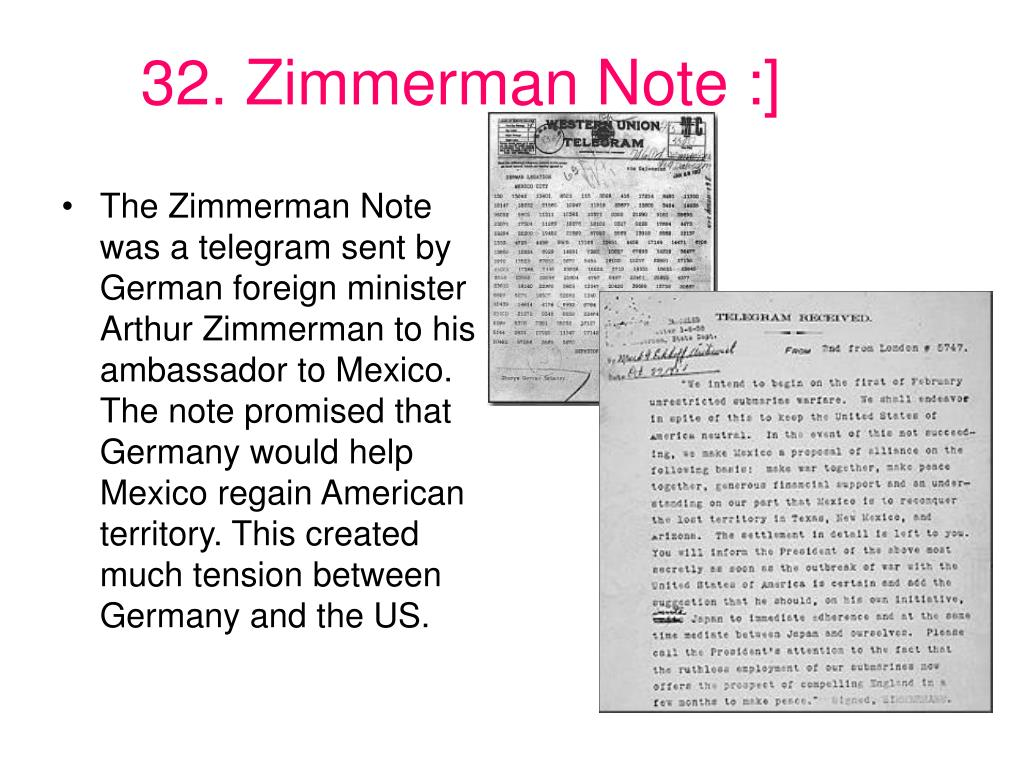 32. Zimmerman Note :]