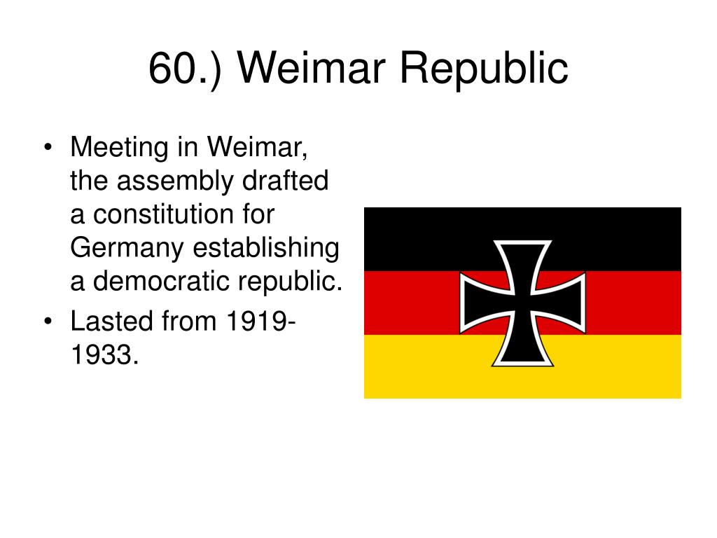 Meeting in Weimar, the assembly drafted a constitution for Germany establishing a democratic republic.