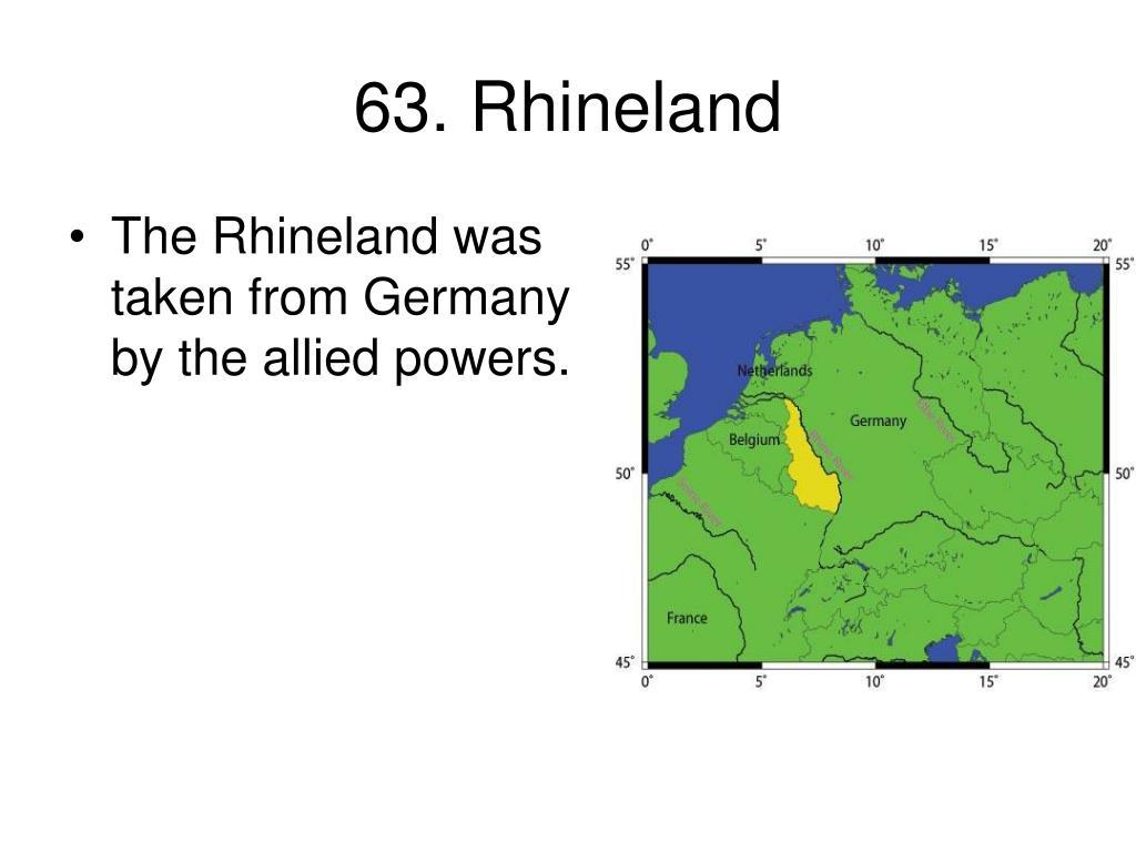 63. Rhineland