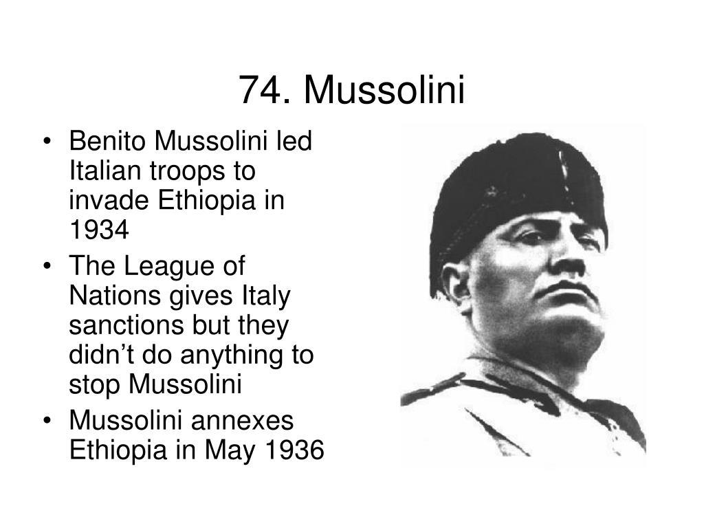 74. Mussolini