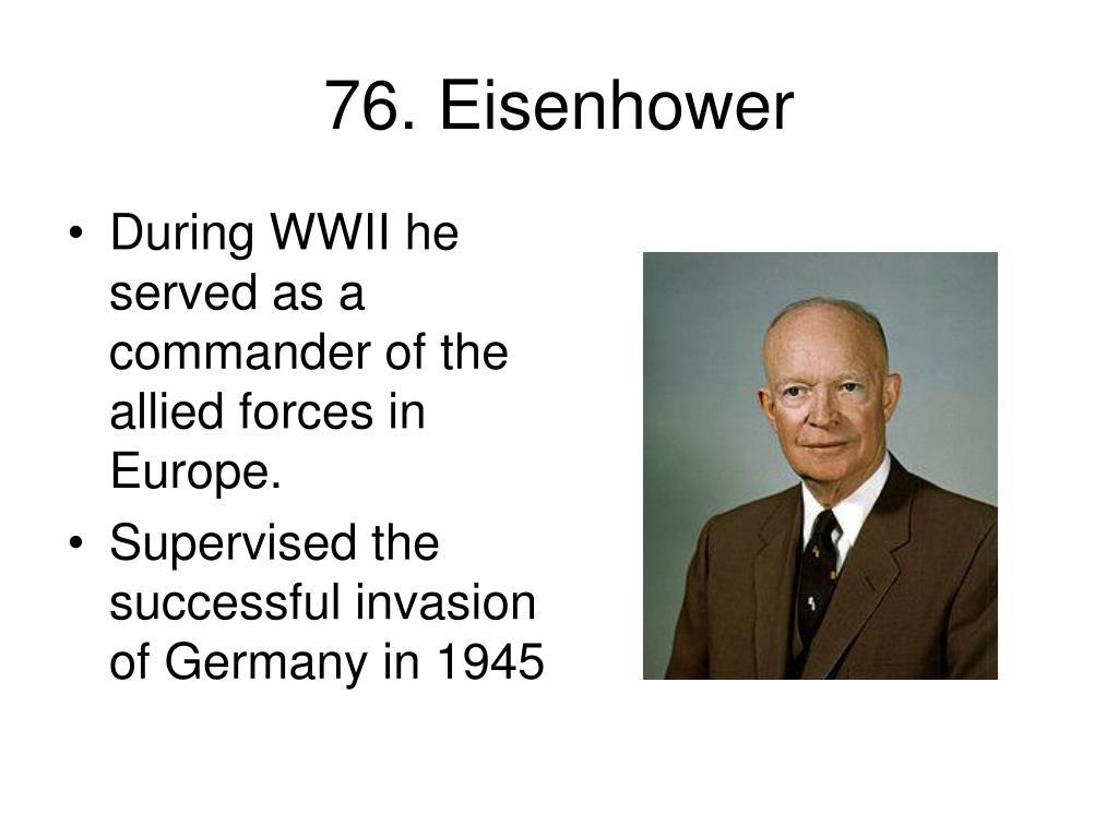 76. Eisenhower