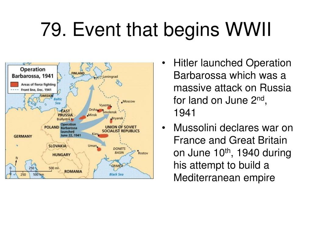 79. Event that begins WWII