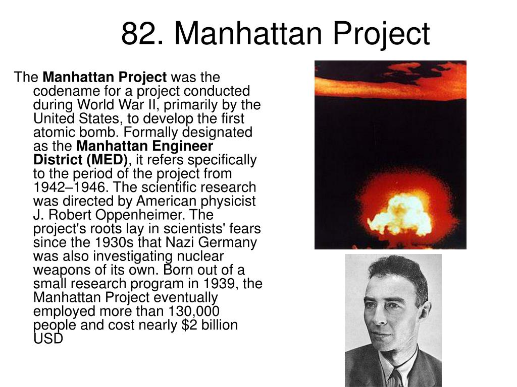 82. Manhattan Project