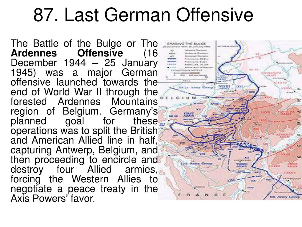 87. Last German Offensive