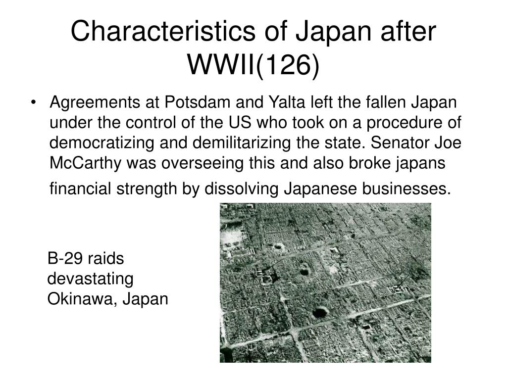 Characteristics of Japan after WWII(126)