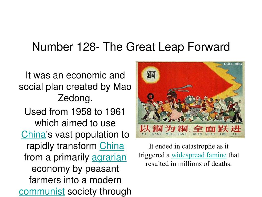 Number 128- The Great Leap Forward