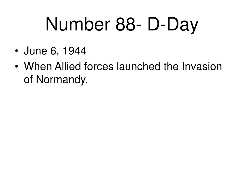 Number 88- D-Day