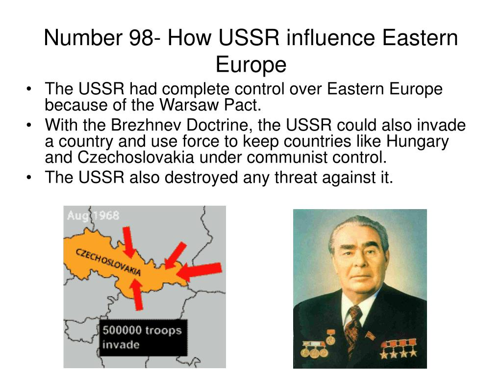 Number 98- How USSR influence Eastern Europe