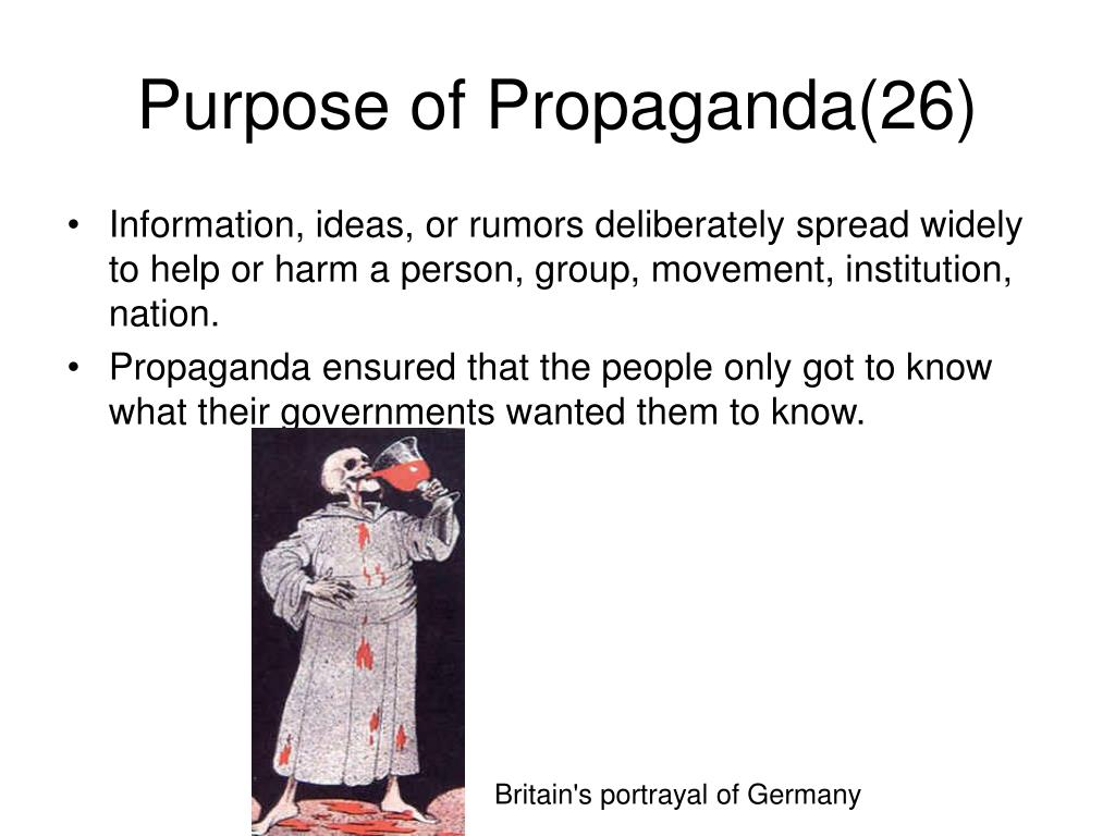Purpose of Propaganda(26)