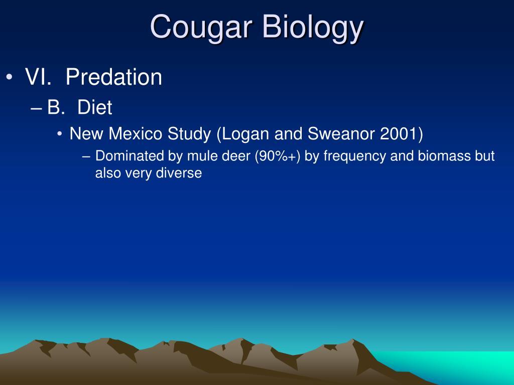 Cougar Biology