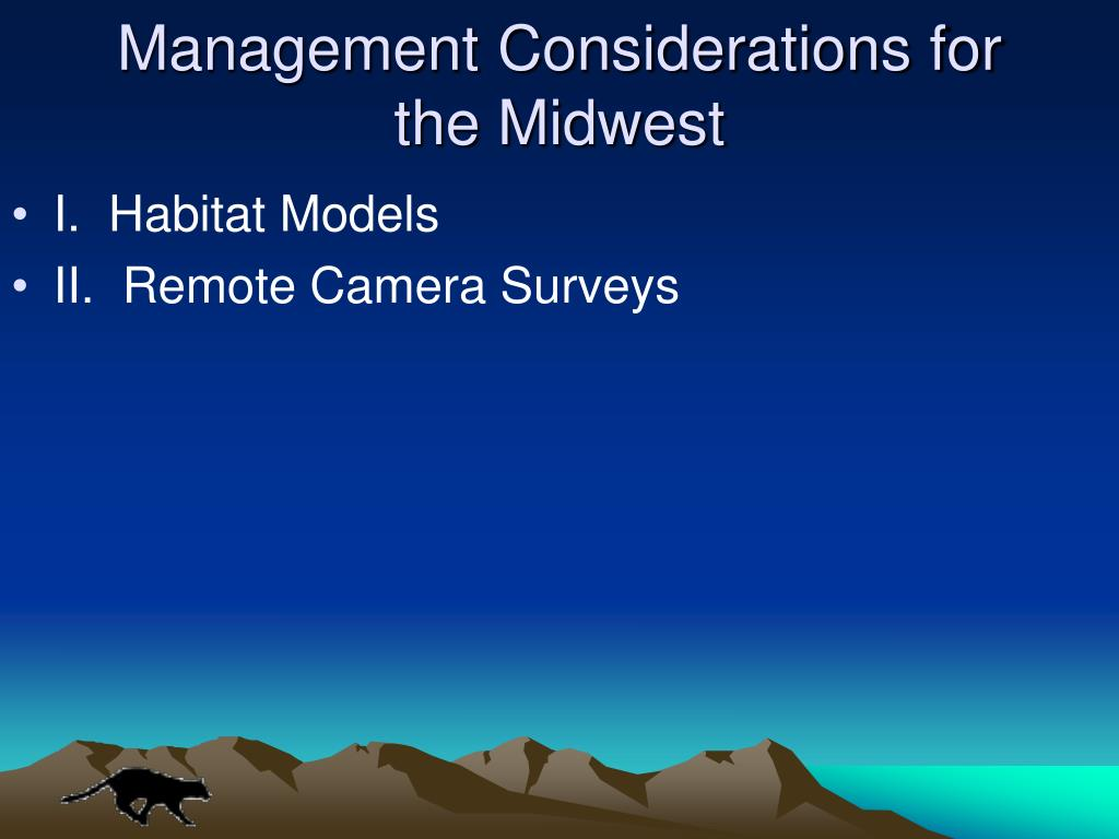 Management Considerations for the Midwest