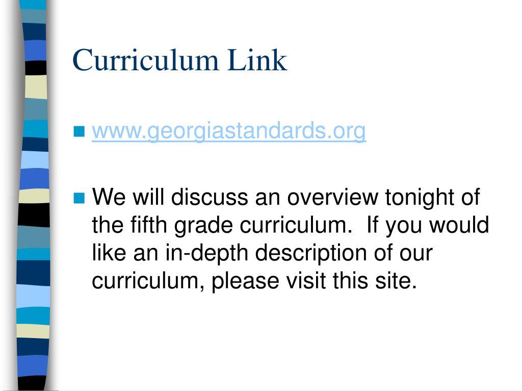 Curriculum Link